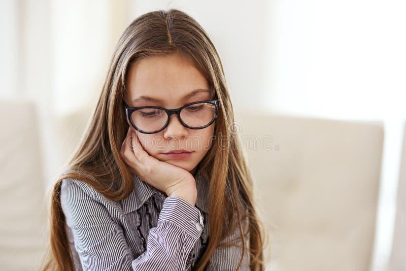 8 anos de menina idosa imagens de stock royalty free