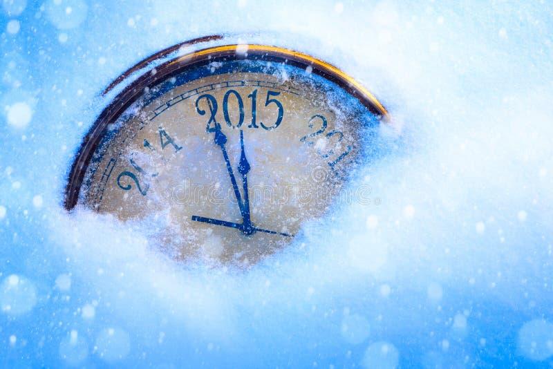 Anos de véspera novos da arte 2015 fotografia de stock royalty free