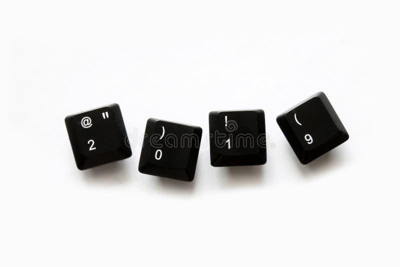 2019 anos em chaves de teclado do computador fotos de stock royalty free