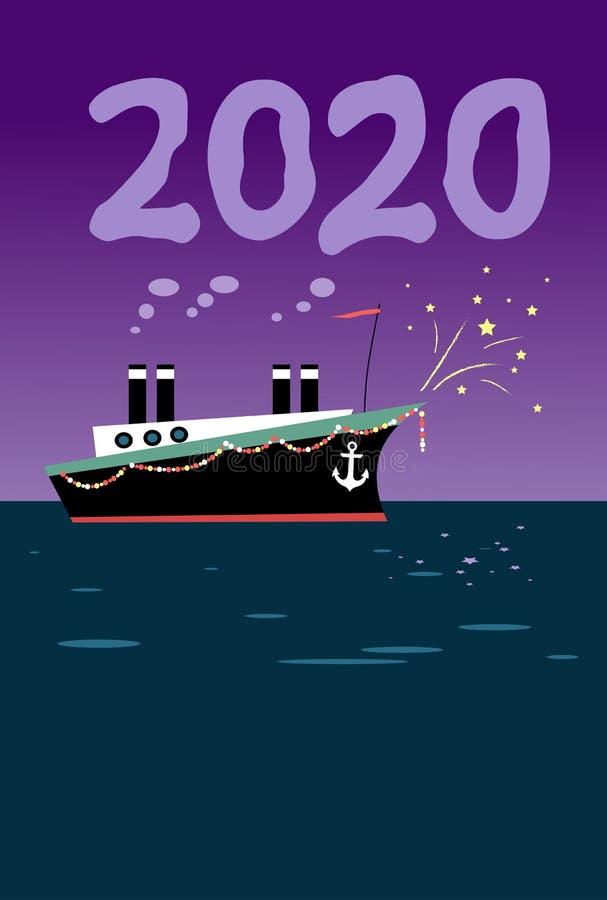 2020 anos feliz ilustração royalty free