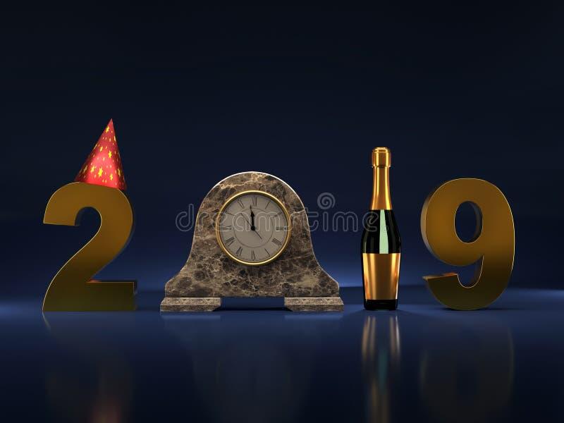 2019 anos novo imagem de stock