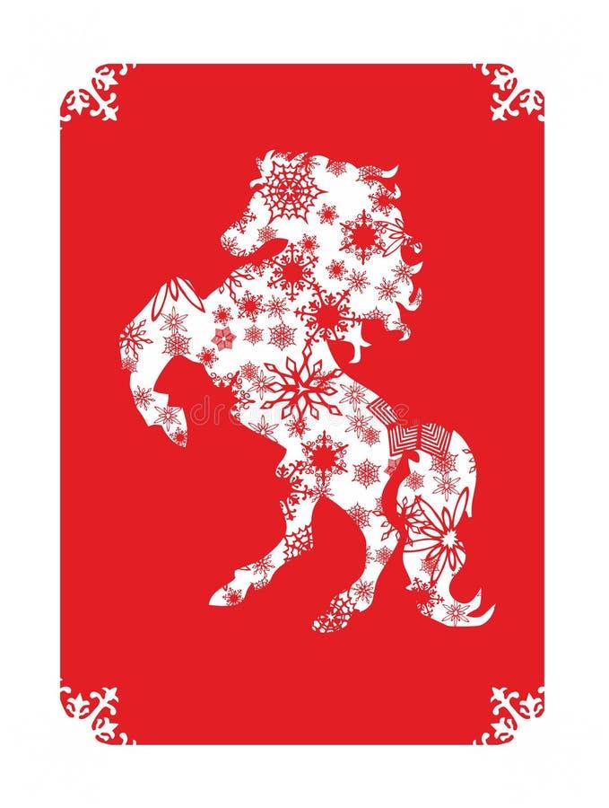 2014 anos novos chineses do cavalo foto de stock