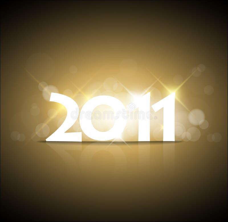 Anos novos do cartão 2011 ilustração stock