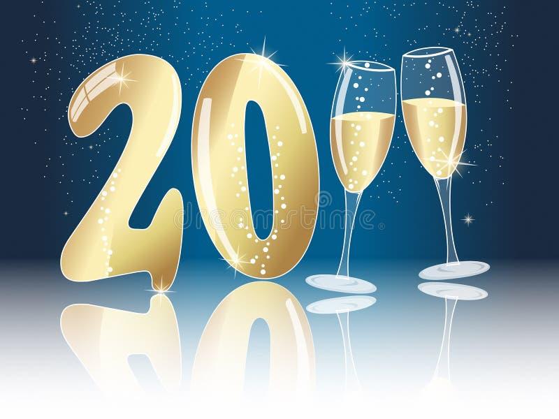 Anos novos do conceito da véspera para 2011 ilustração stock