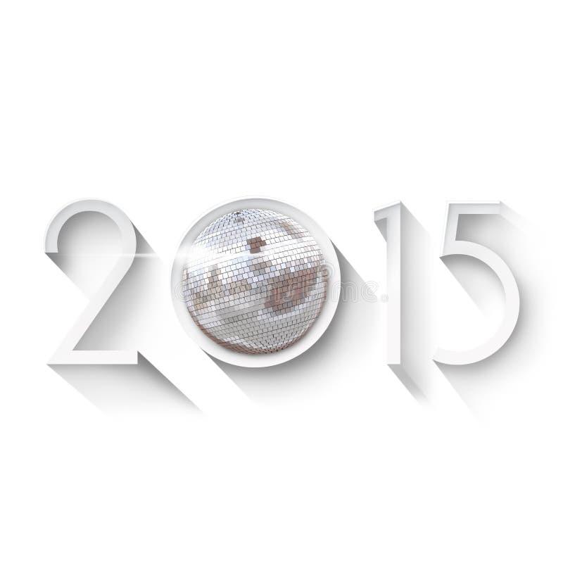 Anos novos do fundo 2015 da véspera ilustração do vetor