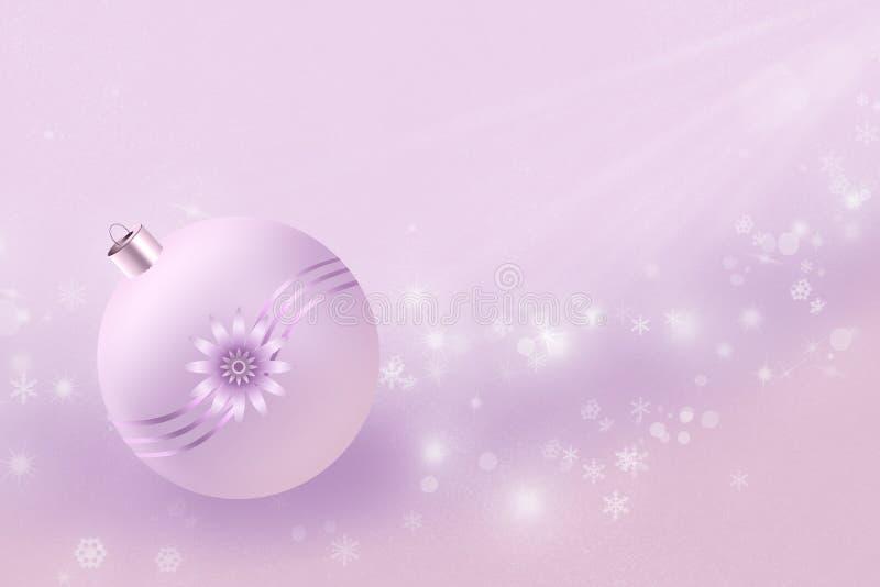 Anos novos do minimalism na cor-de-rosa ilustração royalty free