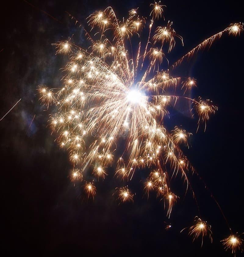 Anos novos dos fogos-de-artifício imagens de stock