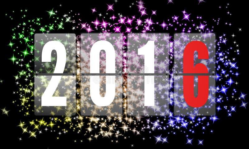 2016 anos novos felizes ilustração stock