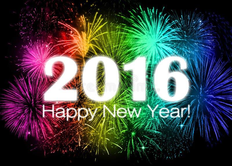 2016 anos novos felizes ilustração do vetor