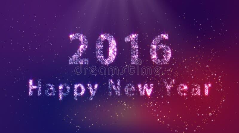 2016 anos novos felizes foto de stock