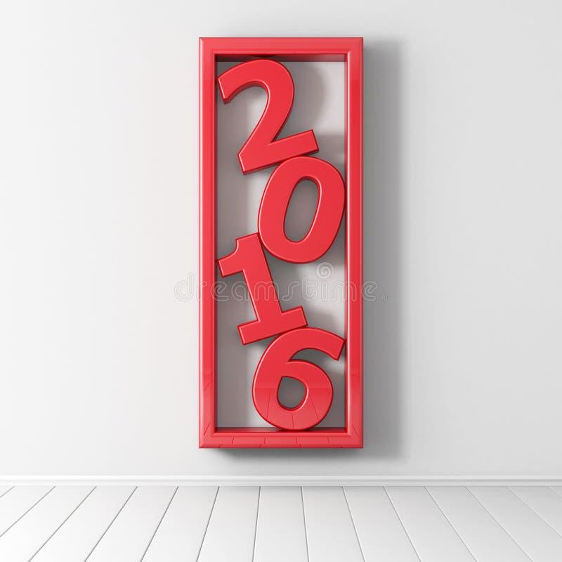 2016 anos novos felizes! ilustração royalty free