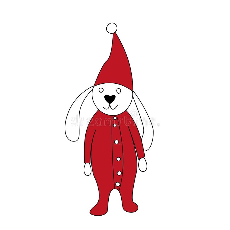 2020 anos novos felizes Ajuste dos brinquedos pequenos bonitos dos desenhos animados Car?teres do ano novo e do Natal Ilustração  ilustração do vetor