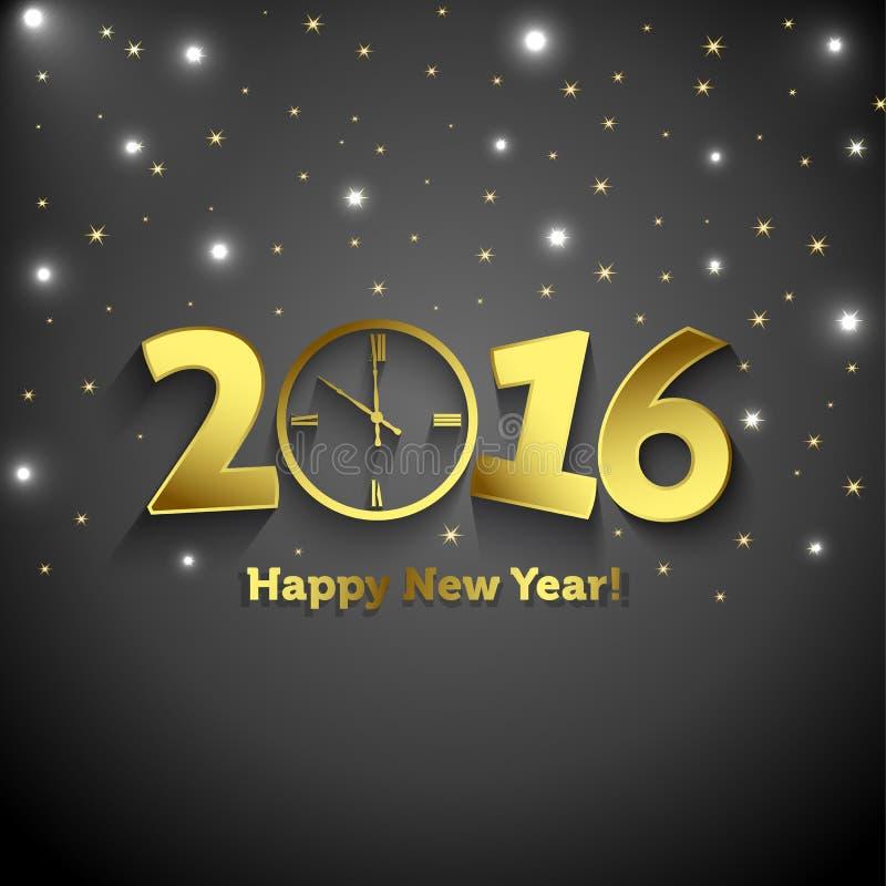 2016 anos novos felizes com pulso de disparo ilustração stock
