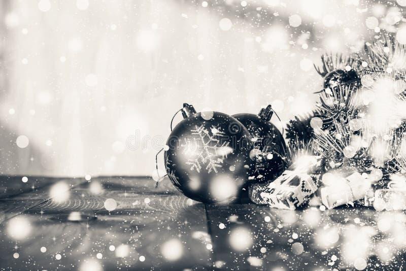 2020 anos novos, Natal Decora??es do Natal, do feriado feliz festivo dos presentes do quadro das decora??es da decora??o m?gica a foto de stock royalty free