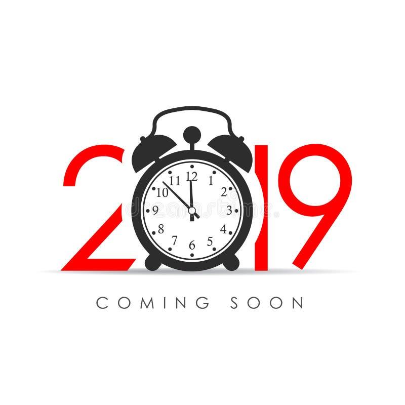2019 anos novos que vêm logo ilustração royalty free