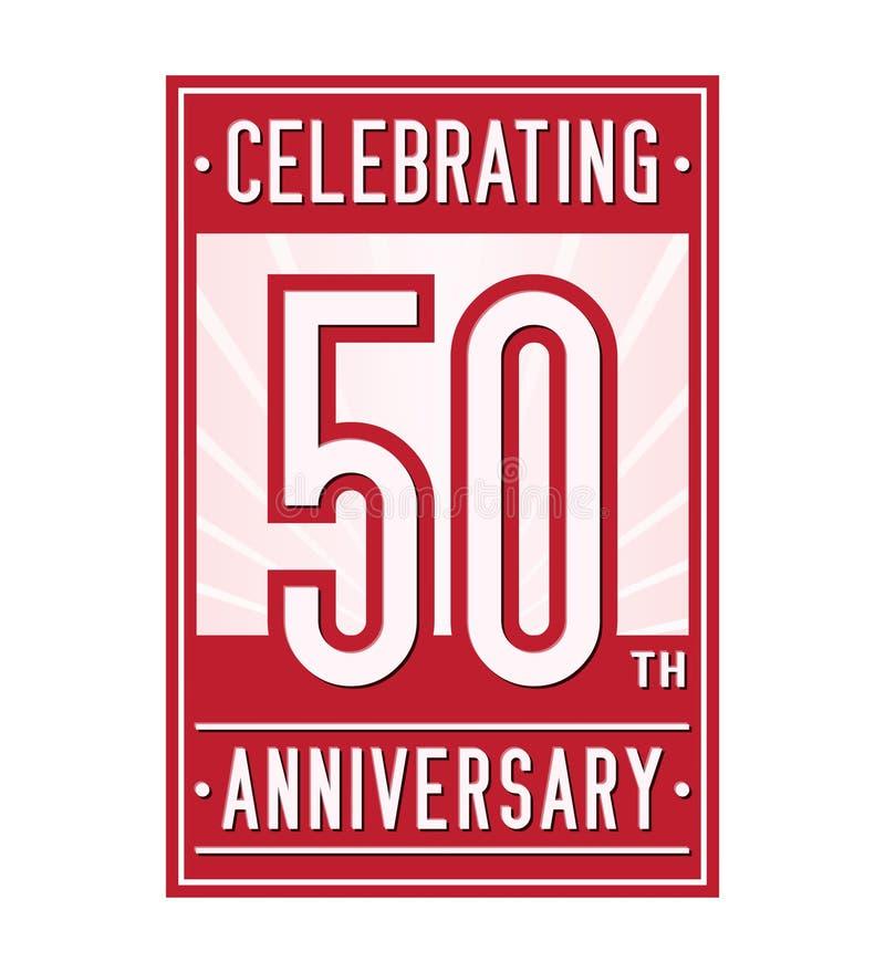 50 anos que comemoram o molde do projeto do aniversário 50th logotipo Vetor e ilustração ilustração do vetor