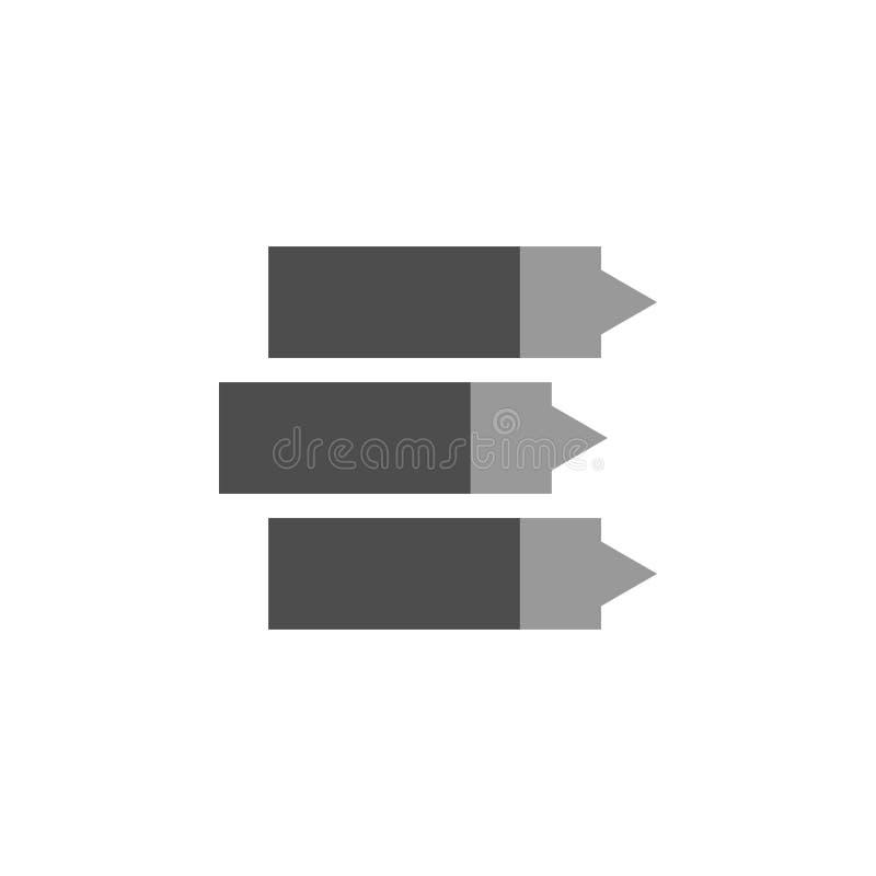 Anotación e icono llano Elemento de financiero, de diagramas y del icono de los informes para el concepto móvil y los apps de la  libre illustration