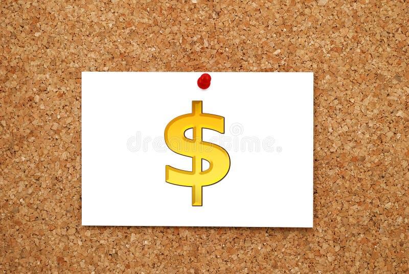 Anote o dólar do ouro fotografia de stock royalty free