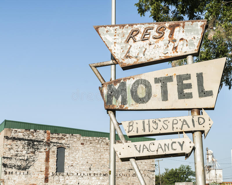 Another abandoned motel sign royalty free stock photos