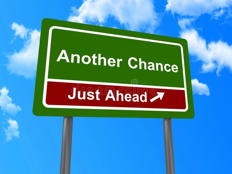 Another chance just ahead sign stock illustration