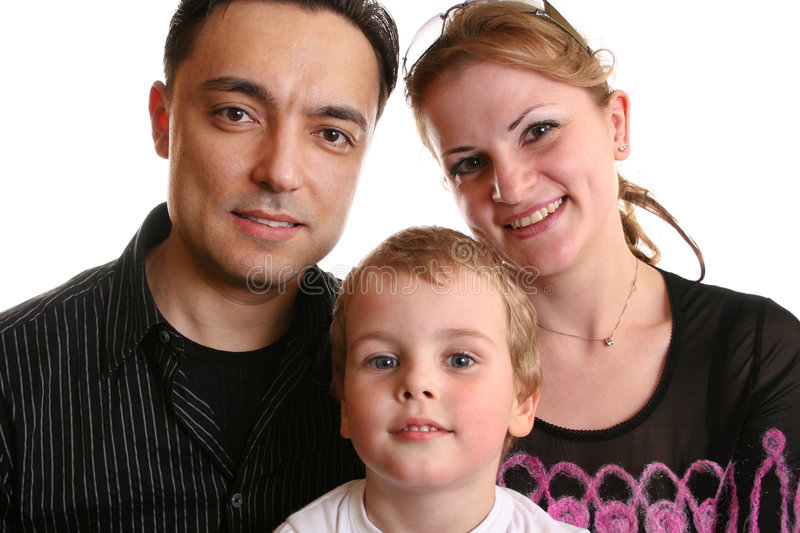 Another family with this boy stock photography