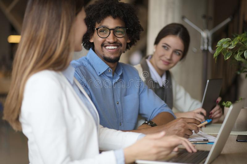 Another great day in the office stock image