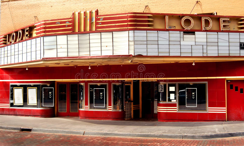 Another Movie Theater Closed stock image