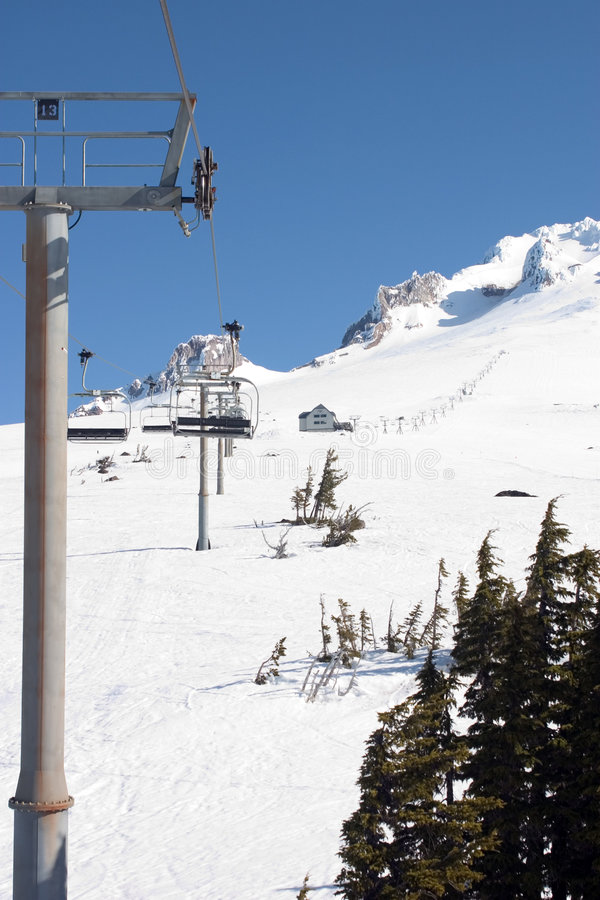 Another Ski Lift on Mt Hood. royalty free stock images