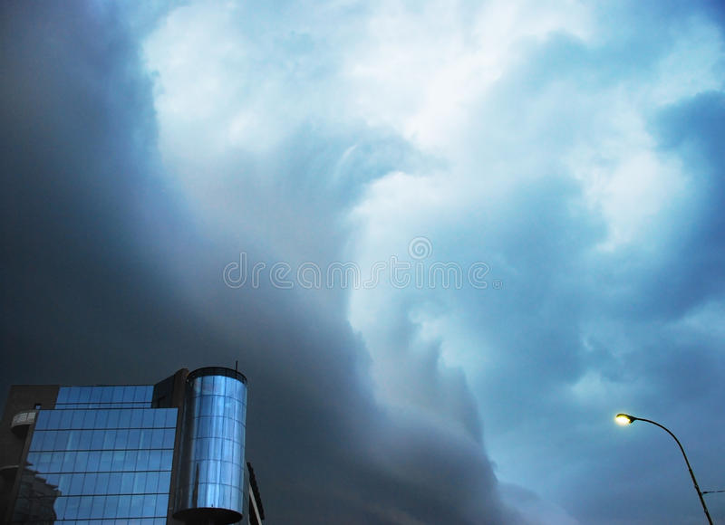 Another storm looks like the sea waves royalty free stock photography