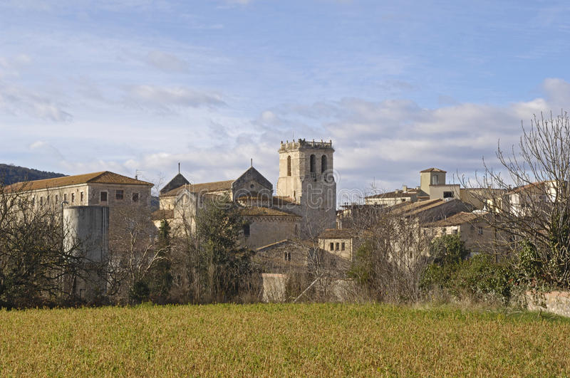 Another view of the medieval village of Besalu stock photo