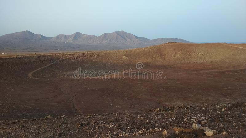 Another view from Montana Roja. Taken from the top of Montana Roja stock image