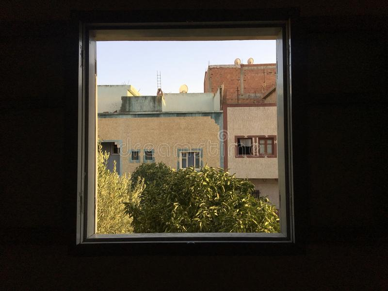 Another vision. View from a window - Taza Morocco royalty free stock image