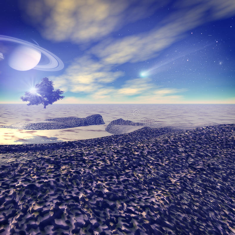 Download Another world. stock illustration. Image of space, falling - 26213025