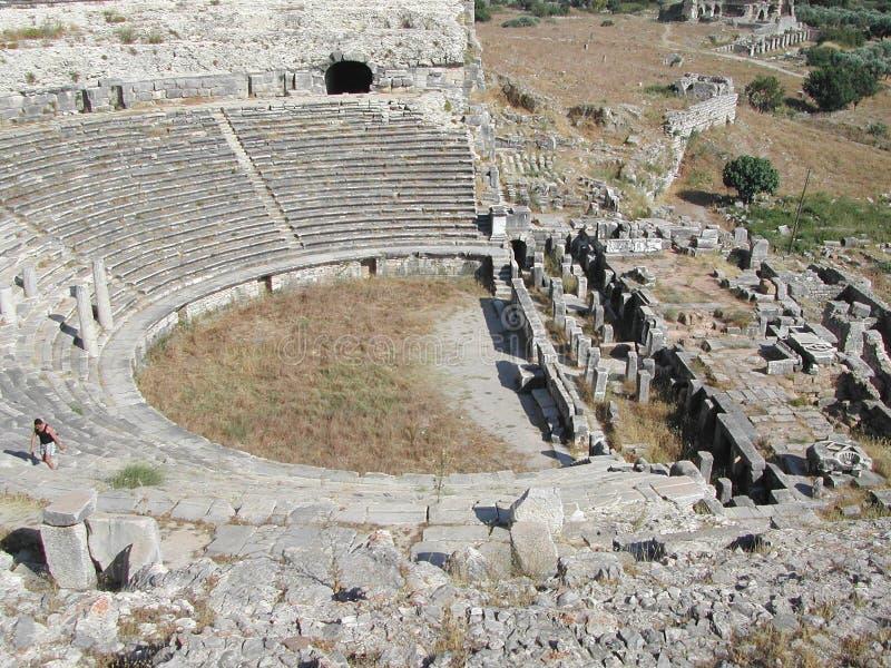 Anphitheatre in Anatolia immagine stock