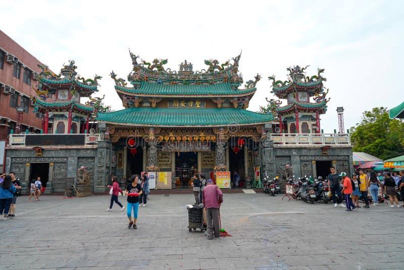 Anping Tianhou tempel, också som är bekant som Kaitaien Tianhou eller den Mazu templet i det Anping området av Tainan, Taiwan arkivfoton