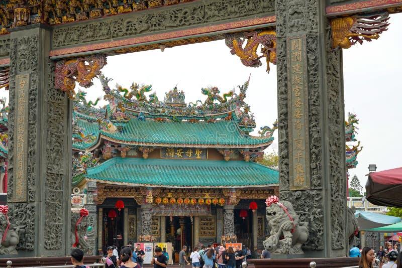 Anping Tianhou tempel, ocks? som ?r bekant som Kaitaien Tianhou eller den Mazu templet i det Anping omr?det av Tainan, Taiwan arkivbild