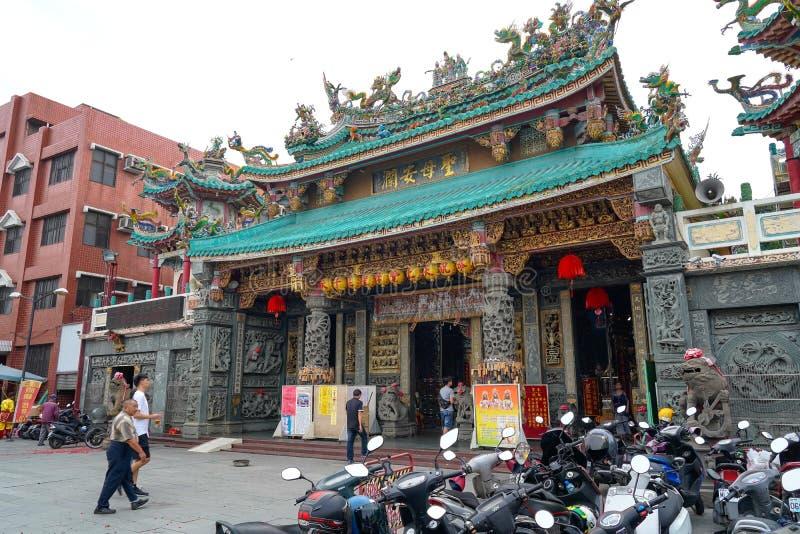 Anping Tianhou tempel, ocks? som ?r bekant som Kaitaien Tianhou eller den Mazu templet i det Anping omr?det av Tainan, Taiwan royaltyfria bilder