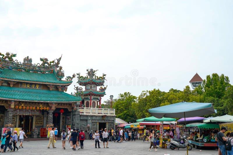 Anping Tianhou tempel, ocks? som ?r bekant som Kaitaien Tianhou eller den Mazu templet i det Anping omr?det av Tainan, Taiwan royaltyfri foto