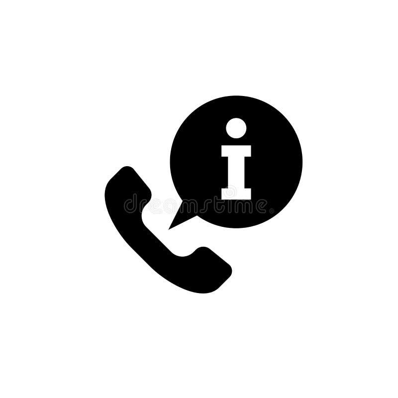 Anruf-Informationsikone lokalisiert auf Hintergrund Ikone der nennenden Informationen einfaches Zeichen vektor abbildung