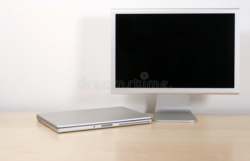 ans计算机膝上型计算机屏幕 免版税图库摄影