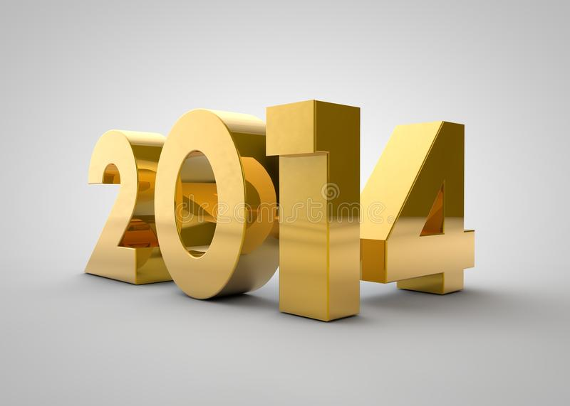 Or 2014 ans illustration stock