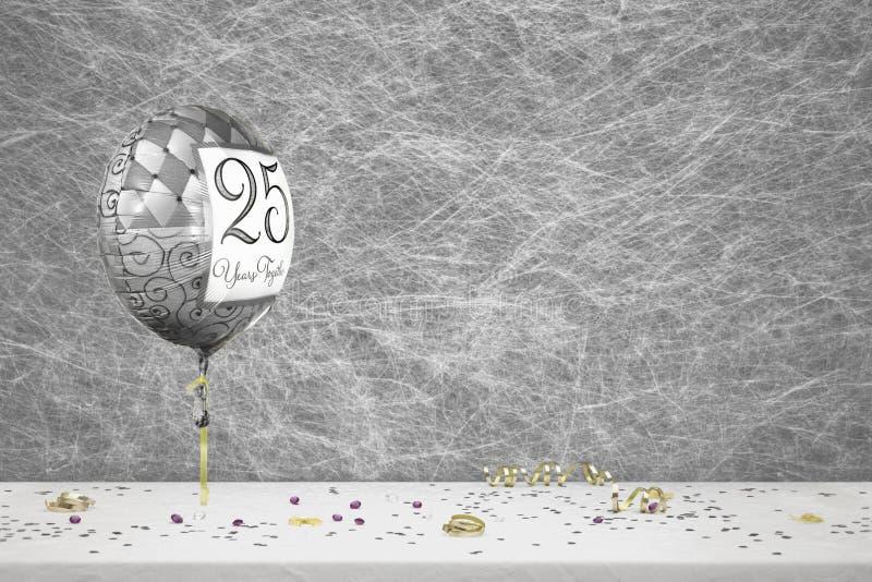 25 ans d'anniversaire de mariage photographie stock libre de droits