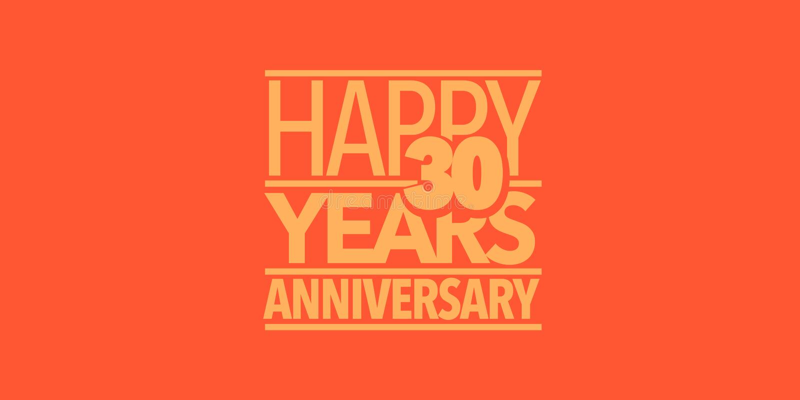 30 ans d'anniversaire d'ic?ne de vecteur, logo, banni?re Élément de conception avec la composition des lettres illustration de vecteur