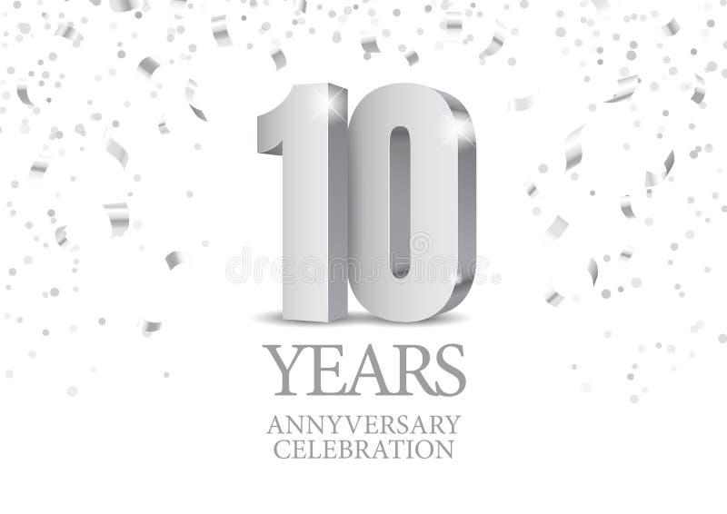 10 ans de c?l?bration d'anniversaire illustration stock