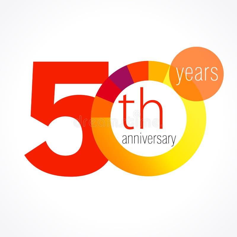 50 ans de logo rond illustration de vecteur