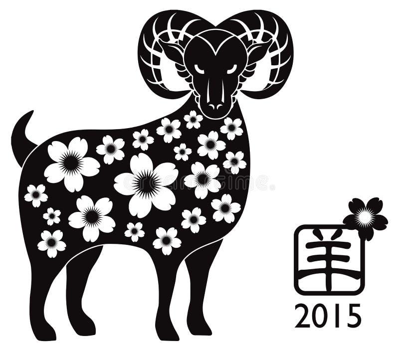 2015 ans de Ram Black Silhouette illustration libre de droits