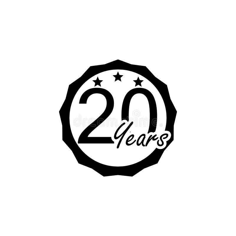 20 ans de signe d'anniversaire Élément de signe d'anniversaire Icône de la meilleure qualité de conception graphique de qualité S illustration de vecteur