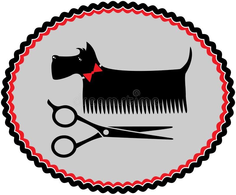 Ansa den skotska terriern stock illustrationer