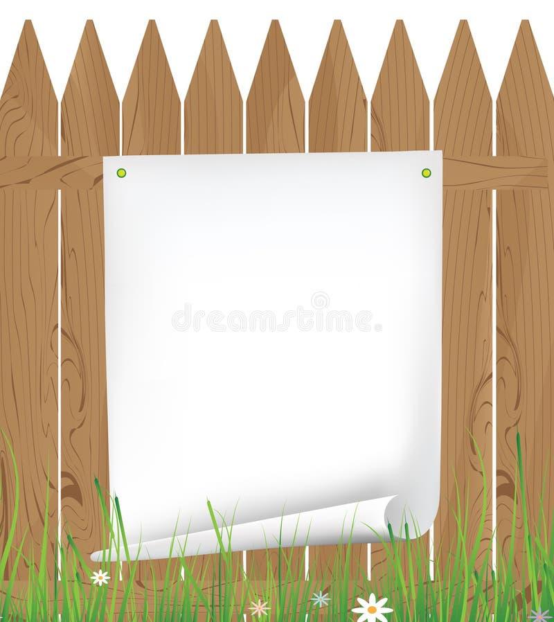 Ansage auf dem Zaun stock abbildung