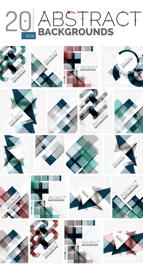 Ansammlung abstrakte Hintergründe stock abbildung